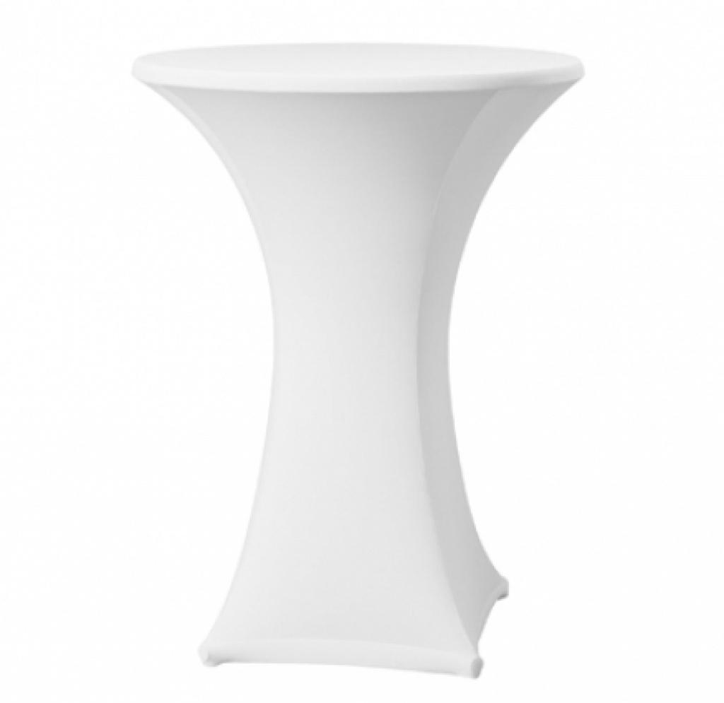 nappe stretch blanche pour table mange debout mons event location